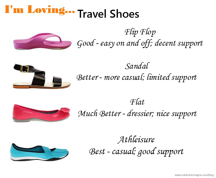 travel shoes, flip-flops, flats, athleisure